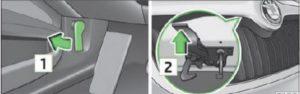 Стопорный рычаг капота/решетка радиатора: стопорный рычаг