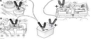 аварийный запуск двигателя автомобиля Ягуар x-type