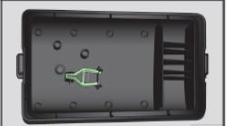 Крышка блока предохранителей в моторном отсеке: пластиковый захват для предохранителей