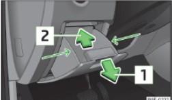 Вещевой ящик со стороны водителя: а/м с левым рулем