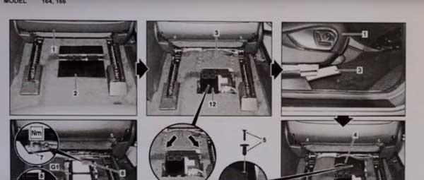 Замена аккумулятора с выездом на Мерседес МЛ