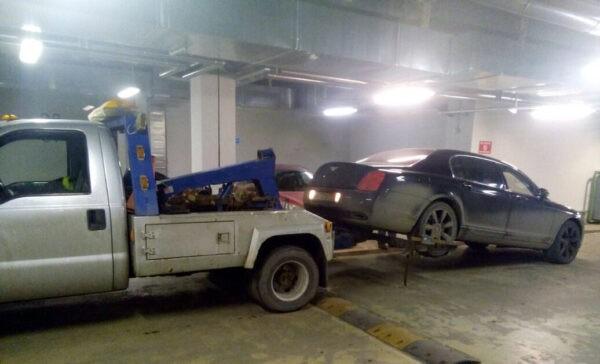 Эвакуатор подземный паркинг, торговый центр